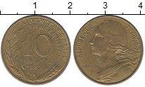 Изображение Дешевые монеты Франция 10 сентим 1982 Латунь XF