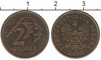 Изображение Дешевые монеты Польша 2 гроша 2005 Латунь XF-