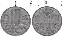 Изображение Дешевые монеты Австрия 10 грош 1967 Алюминий VF