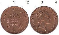 Изображение Барахолка Великобритания 1 пенни 1996 Медь XF