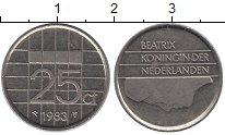Изображение Барахолка Нидерланды 25 центов 1983 Медно-никель XF