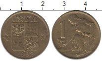 Изображение Дешевые монеты Чехия 1 крона 1992 Латунь-сталь VF+