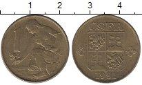 Изображение Барахолка Чехословакия 1 крона 1991 Латунь-сталь XF