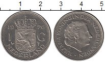 Изображение Дешевые монеты Нидерланды 1 гульден 1976 Медно-никель XF