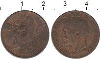 Изображение Дешевые монеты Италия 10 сантим 1924 Медь VG