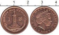 Изображение Барахолка Остров Мэн 1 пенни 2008 Медь XF+
