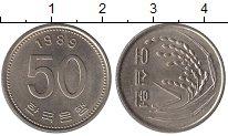 Изображение Дешевые монеты Южная Корея 50 вон 1989 Медно-никель XF