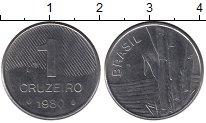 Изображение Барахолка Бразилия 1 крузейро 1980 Сталь XF