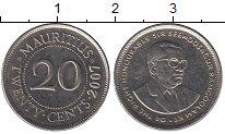 Изображение Барахолка Маврикий 20 центов 2007 Медно-никель XF