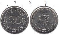 Изображение Барахолка Маврикий 20 центов 1987 Медно-никель XF