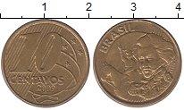 Изображение Дешевые монеты Бразилия 10 сентаво 2009 Латунь-сталь XF