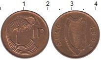 Изображение Дешевые монеты Ирландия 1 пенни 1992 Медь XF