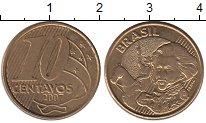 Изображение Дешевые монеты Бразилия 10 сентаво 2007 Латунь-сталь XF