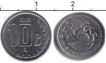 Изображение Барахолка Мексика 10 сентаво 2009 нержавеющая сталь XF-