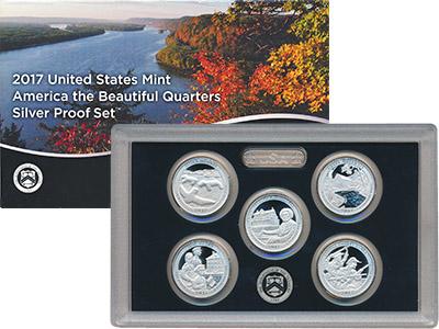 Изображение Подарочные наборы США Национальные парки 2017 2017 Серебро Proof Подарочный набор сос