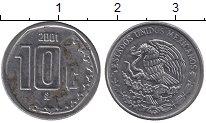 Изображение Барахолка Мексика 10 песо 2001 Медно-никель VF