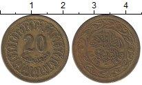 Изображение Барахолка Тунис 20 миллим 1983 Латунь VF