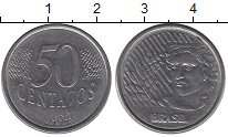 Изображение Дешевые монеты Бразилия 50 сентаво 1994 Медно-никель XF