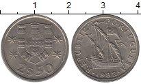 Изображение Дешевые монеты Португалия 2 1/2 эскудо 1982 Медно-никель XF