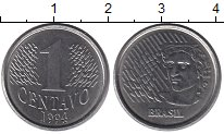 Изображение Дешевые монеты Бразилия 1 сентаво 1994 Медно-никель XF