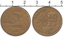 Изображение Дешевые монеты Бразилия 25 сентаво 2005 Латунь XF-