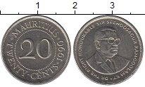 Изображение Барахолка Маврикий 20 центов 1990 Сталь покрытая никелем VF+