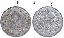 Изображение Дешевые монеты Австрия 2 гроша 1954 Алюминий VF+