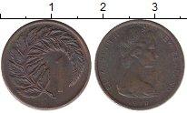 Изображение Барахолка Новая Зеландия 1 цент 1970 Медь VF