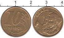Изображение Дешевые монеты Бразилия 10 сентаво 2013 Латунь-сталь XF+