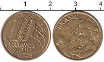 Изображение Дешевые монеты Бразилия 10 сентаво 2012 Латунь-сталь XF+