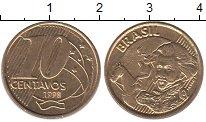 Изображение Барахолка Бразилия 10 сентаво 1998 Латунь-сталь XF