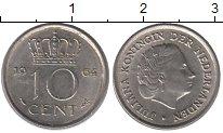 Изображение Барахолка Нидерланды 10 центов 1964 Медно-никель XF-