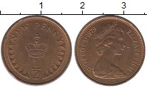 Изображение Барахолка Великобритания 1/2 пенни 1979 Медь XF+