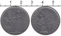 Изображение Дешевые монеты Италия 100 лир 1967 Медно-никель XF-
