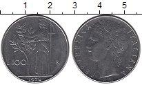 Изображение Дешевые монеты Италия 100 лир 1978 нержавеющая сталь XF