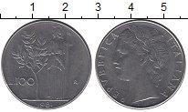 Изображение Дешевые монеты Италия 100 лир 1981 нержавеющая сталь XF