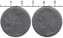 Изображение Дешевые монеты Италия 100 лир 1966 Медно-никель XF