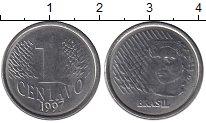 Изображение Дешевые монеты Бразилия 1 сентаво 1997 Медно-никель XF-