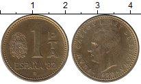 Изображение Дешевые монеты Испания 1 песета 1980 Латунь XF-