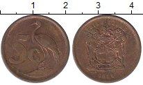 Изображение Дешевые монеты ЮАР 5 центов 1996 сталь с медным покрытием VF