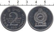 Изображение Барахолка Шри-Ланка 2 рупии 2013 Медно-никель XF+