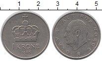 Изображение Дешевые монеты Норвегия 1 крона 1983 Медно-никель XF-