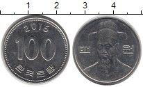 Изображение Барахолка Южная Корея 100 вон 2015 Медно-никель XF