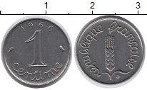 Изображение Барахолка Франция 1 сентим 1966 Медно-никель XF