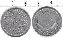 Изображение Барахолка Франция 1 франк 1943 Алюминий VF+