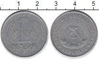 Изображение Барахолка ГДР 1 марка 1977 Алюминий XF-