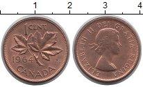 Изображение Дешевые монеты Канада 1 цент 1964 Медь XF