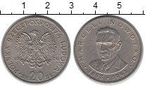 Изображение Барахолка Польша 20 злотых 1976 Медно-никель XF