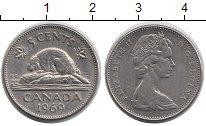 Изображение Дешевые монеты Канада 5 центов 1969 Медно-никель XF