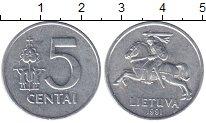Изображение Барахолка Литва 5 центов 1991 Алюминий XF